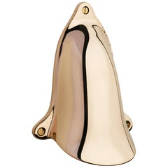 Tekna Shell Light LED Wall Light with Polished Brass Finish & Ventilation Cover