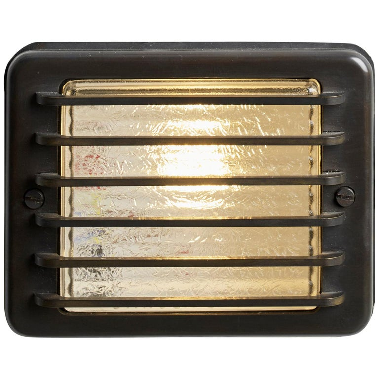 Tekna Steplight LED Semi-Recessed Light with Dark Bronze Finish and Clear Glass For Sale
