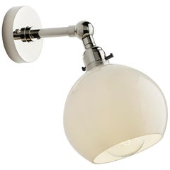 Tekna Stiffkey Bobeche Wall Light with Polished Nickel Finish