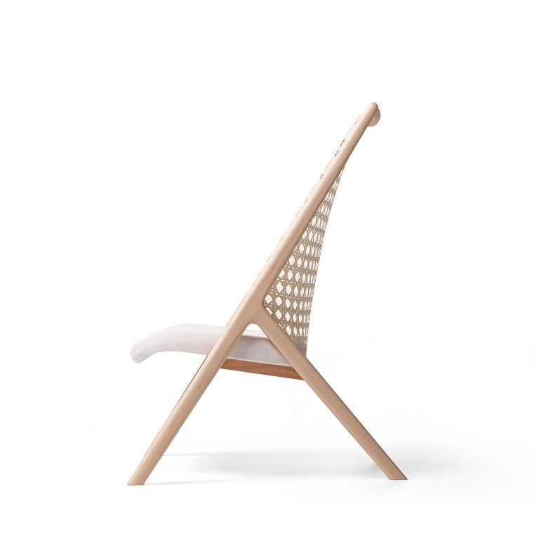 Modern Tela Lounge Chair in Recycled Cotton, by Wentz, Brazilian Contemporary Design For Sale