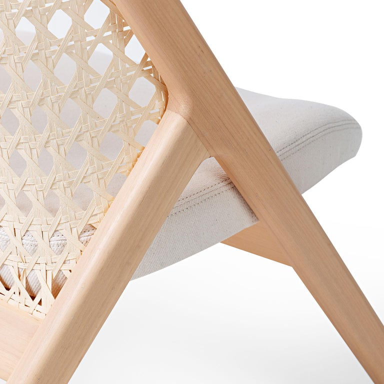 Tela Lounge Chair in Recycled Cotton, by Wentz, Brazilian Contemporary Design In New Condition For Sale In Caxias do Sul, Rio Grande do Sul