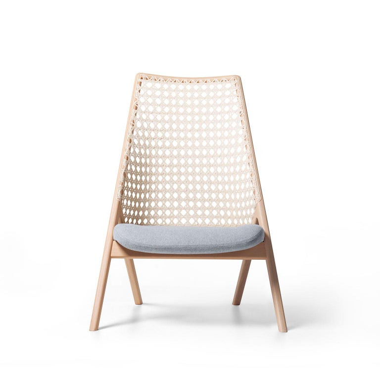 Upholstery Tela Lounge Chair in Recycled Cotton, by Wentz, Brazilian Contemporary Design For Sale