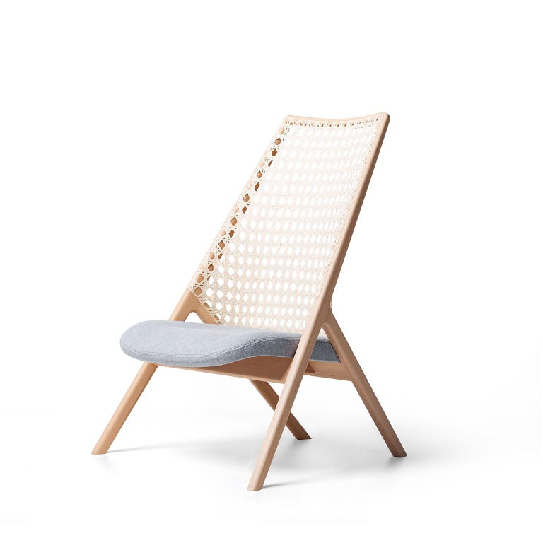 Tela Lounge Chair in Recycled Cotton, by Wentz, Brazilian Contemporary Design For Sale 1