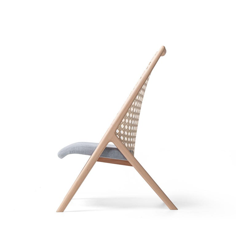 Tela Lounge Chair in Recycled Cotton, by Wentz, Brazilian Contemporary Design For Sale 2