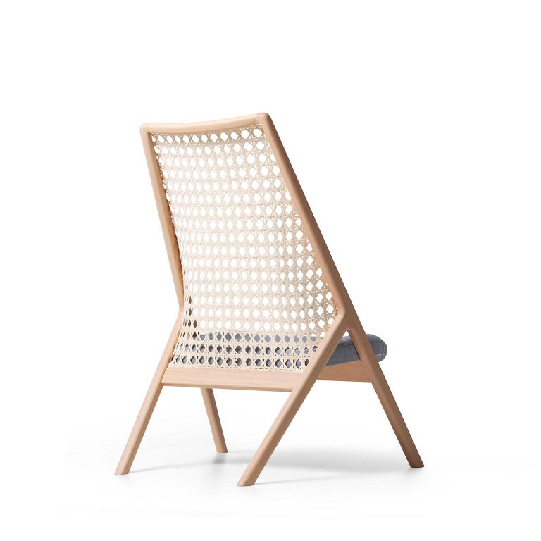 Tela Lounge Chair in Recycled Cotton, by Wentz, Brazilian Contemporary Design For Sale 3