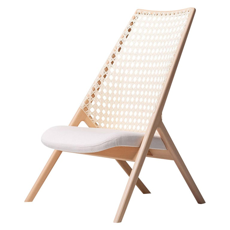 Tela Lounge Chair in Recycled Cotton, by Wentz, Brazilian Contemporary Design For Sale