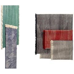 NEW - Telares Carmine Kilim Standard Afghan Wool Rug by Nani Marquina