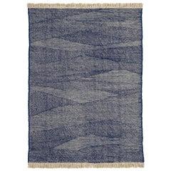 NEW - Telares Indigo Killim Standard Afghan Wool Rug by Nani Marquina
