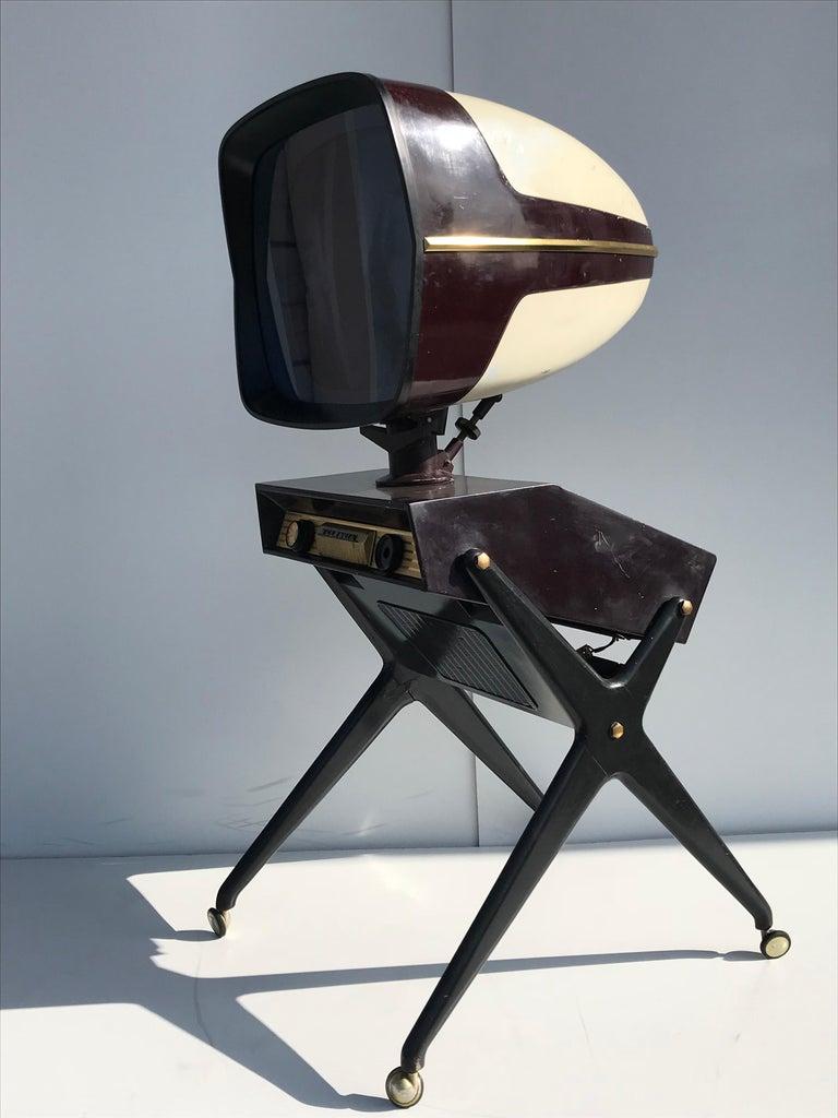 Woodwork Teleavia P111 TV Designed by Bertroni, 1958