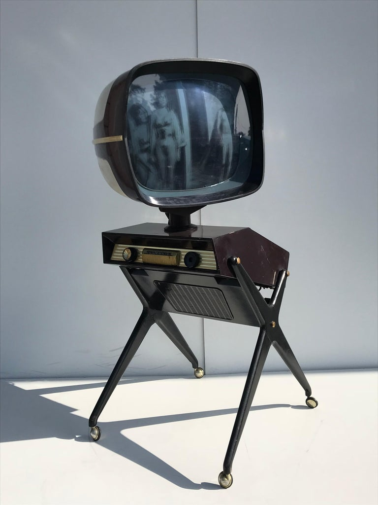 Teleavia P111 TV Designed by Bertroni, 1958 In Fair Condition In North Hollywood, CA