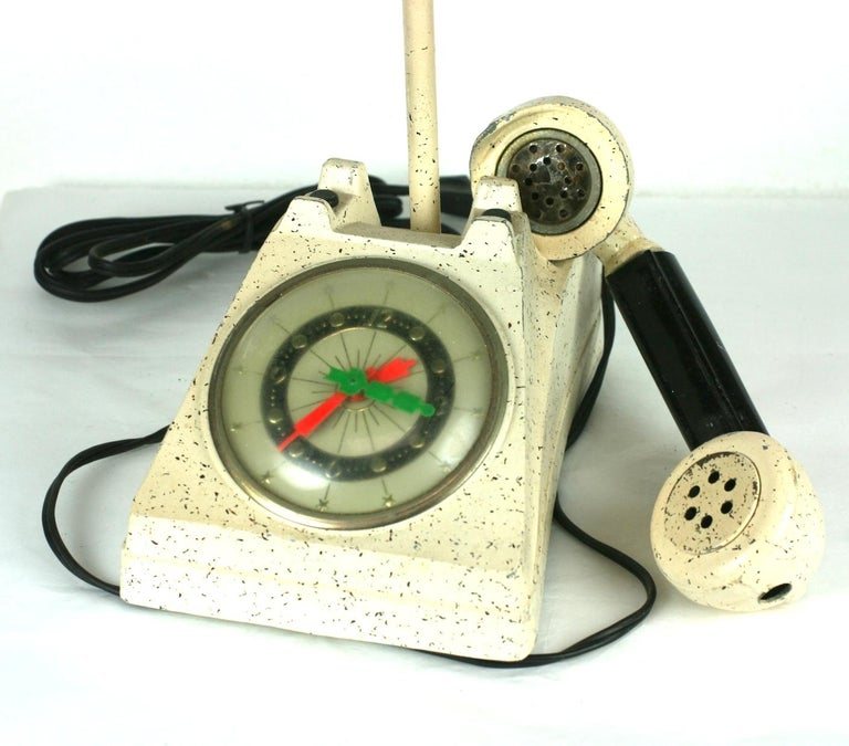 Telephone Clock Table Lamp For Sale 2
