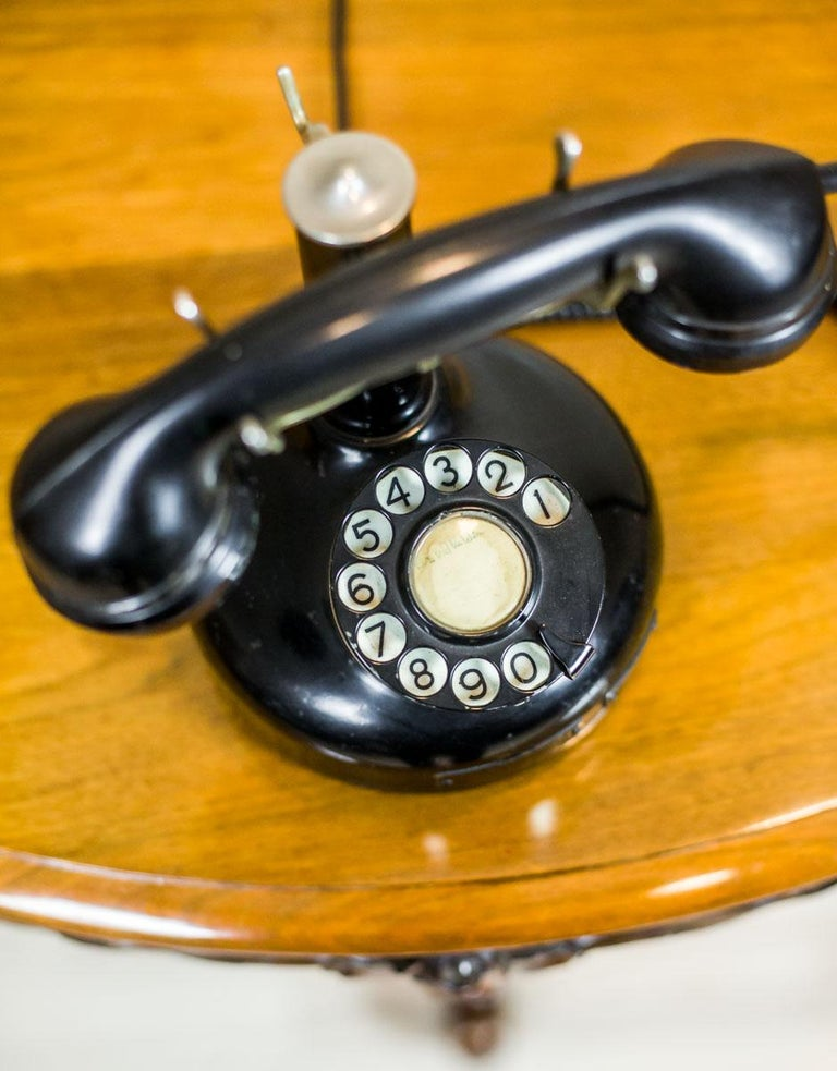 Danish Telephone with a Rotary Dial, circa 1940 For Sale