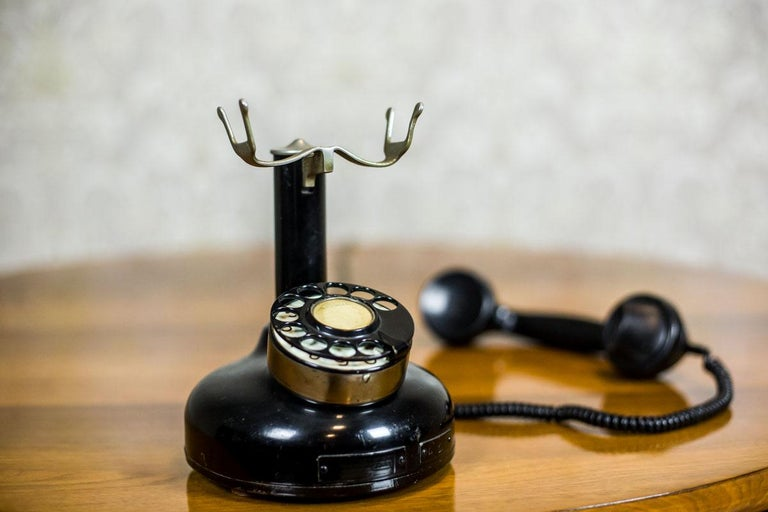 Mid-20th Century Telephone with a Rotary Dial, circa 1940 For Sale