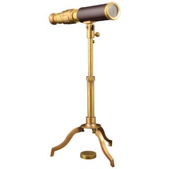 Telescope with Tripod, Metal, Decorative Object