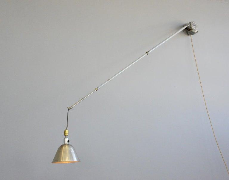 Telescopic Task Lamp by Johan Petter Johansson for Triplex, 1920s For Sale 3