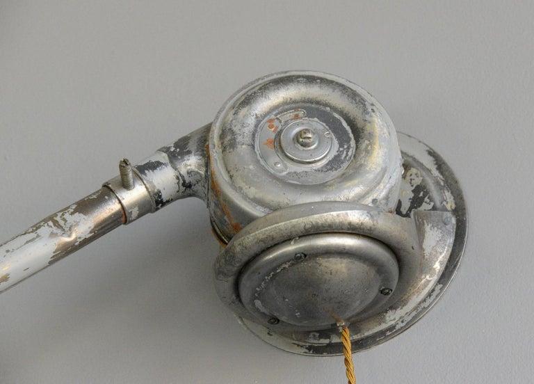 Swedish Telescopic Task Lamp by Johan Petter Johansson for Triplex, 1920s For Sale