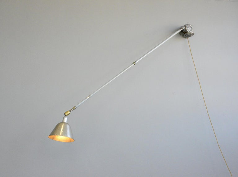 Telescopic Task Lamp by Johan Petter Johansson for Triplex, 1920s For Sale 1