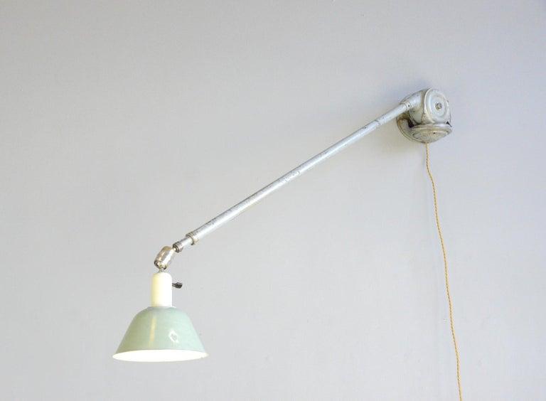 Telescopic Task Lamp by Johan Petter Johansson for Triplex, 1930s For Sale 3