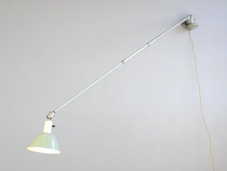 Steel Telescopic Task Lamp by Johan Petter Johansson for Triplex, 1930s For Sale
