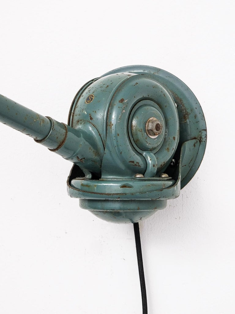 Telescopic 'Triplex' Lamp by Johan Petter Johansson for Triplex Fabriken, Sweden In Good Condition In Helsinki, FI