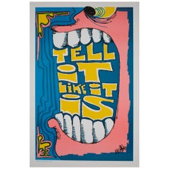 Tell It like It Is 1970s American Political/Protest Poster, Ape