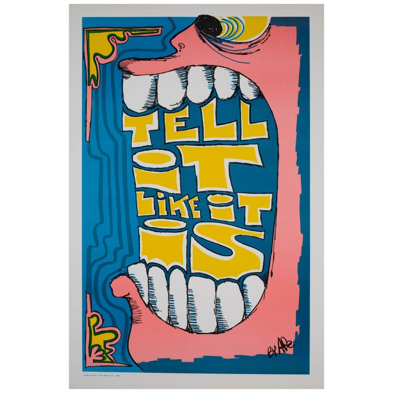 Tell it like it is 1970s American Political/Protest Poster, Ape For Sale