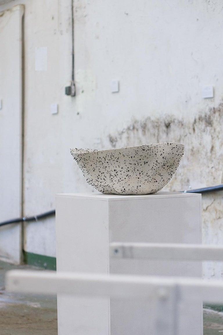 Telluride, Stracciatella, Big Bowl, Centrepiece, Volcanic Porcelain, Vessel For Sale 2