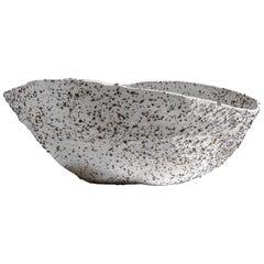 Telluride, Stracciatella, Big Bowl, Centrepiece, Volcanic Porcelain, Vessel