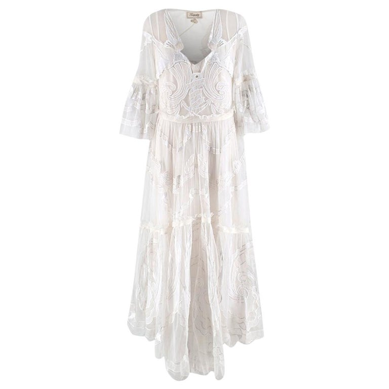 Temperley London Embroidered Mast Midi Dress UK14 For Sale