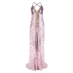 Temperley London StarletLilac Sequin-embellished Chiffon Gown S US 6