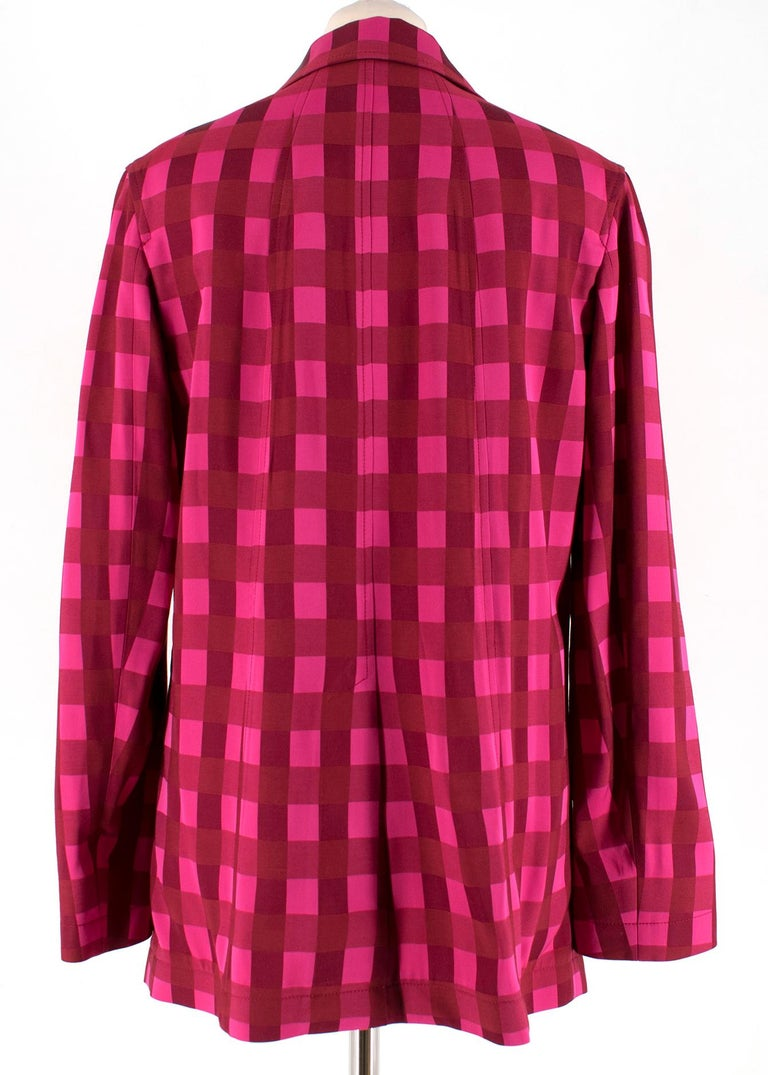 Temperley London Stirling Red & Pink SuitUK 8 In Excellent Condition For Sale In London, GB