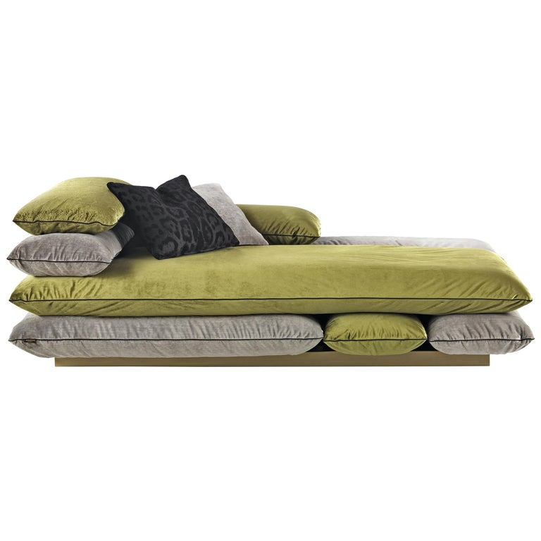 Template Right Chaise Longue in Fabric by Roberto Cavalli For Sale
