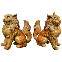 Temple Gardians Sculpture Pair of Koma Inu