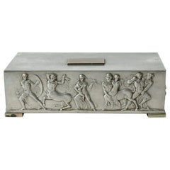 Temple of Apollo Pewter box from Herman Bergman, Sweden, 1939