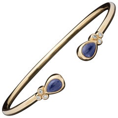 Temple St. Clair Bellina Iolite and Diamond Cuff Bracelet