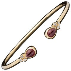 Temple St. Clair Bellina Rhodolite and Diamond Cuff Bracelet
