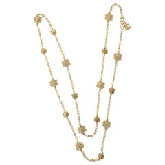 Temple St. Clair Diamond and Moonstone Long Chain Necklace