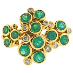 Temple St. Clair Emerald Diamond Gold Ring