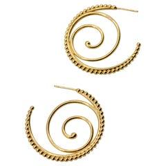Temple St Clair Gold Hoop Earrings