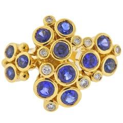 Temple St. Clair Loclus Sapphire Diamond Gold Ring