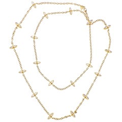 Temple St. Clair Moonstone Gold Station Long Necklace