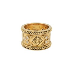 Temple St. Clair 'Nomad' Yellow Gold and Diamond Band