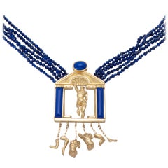 Temple to Venus Lapis Pendant Necklace