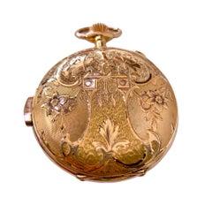 Tempora 18 Karat Yellow Gold Hunting Case Pocket Watch