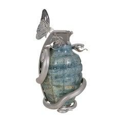 Tempus Fugit Grenade in Aquamarine