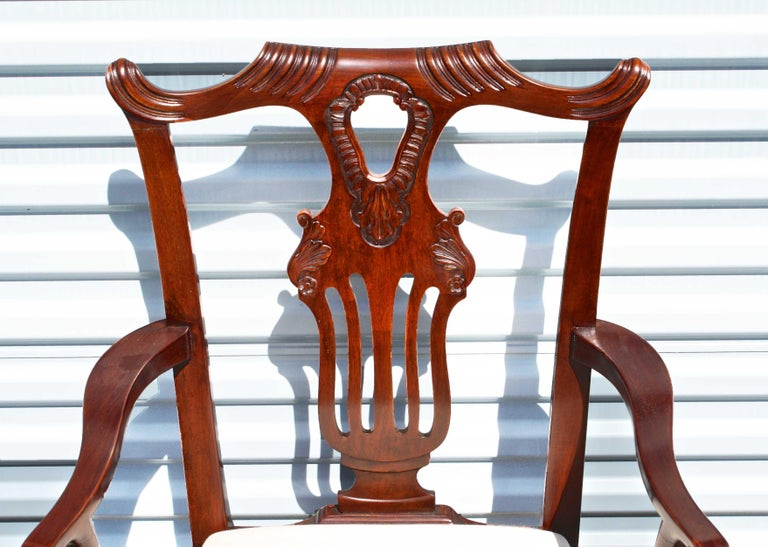 Carved TEN American Chippendale 'Bicentennial' Dining Chairs For Sale