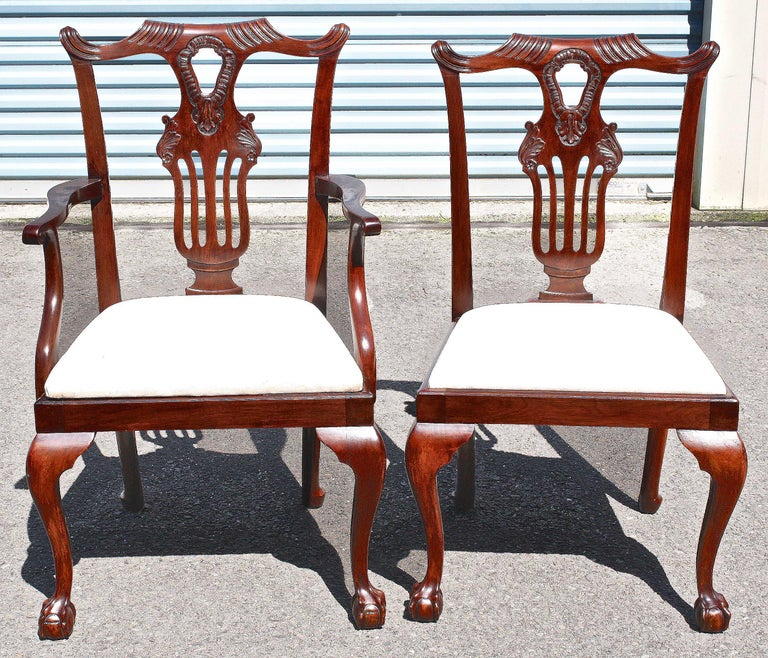 20th Century TEN American Chippendale 'Bicentennial' Dining Chairs For Sale