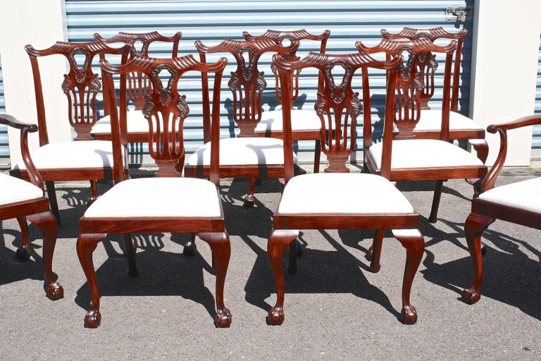 Mahogany TEN American Chippendale 'Bicentennial' Dining Chairs For Sale