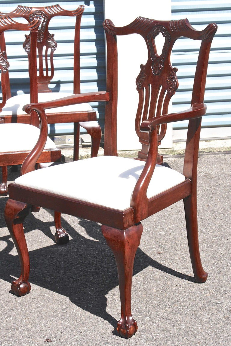 TEN American Chippendale 'Bicentennial' Dining Chairs For Sale 1