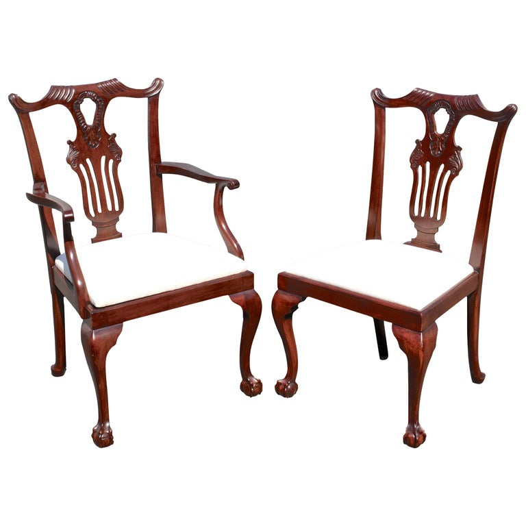 TEN American Chippendale 'Bicentennial' Dining Chairs For Sale